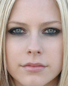 Avril Lavigne's Face